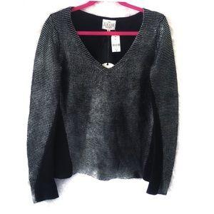 Free People Sloane Society Metallic Sweater